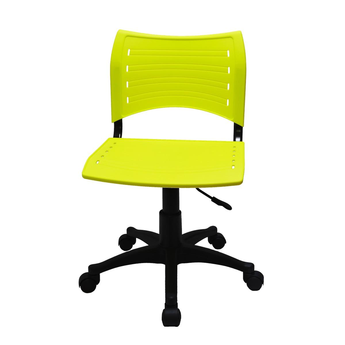 Cadeira Escritório Giratória Cf10 Amarela R$ 209 90 no  #A7B203 1200x1200