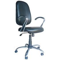 Cadeira Presidente Com Relax Base E Braços Cromados