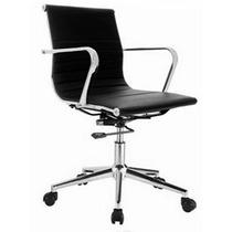 Cadeira Escritório Giratória Diretor C/ Braços Cromados