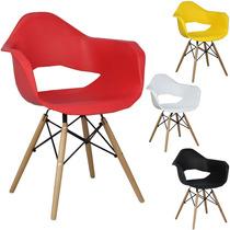 Cadeira Alana Charles Eames Em Pp Base Madeira 12x Sem Juros