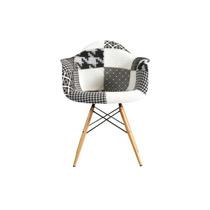 Cadeira Base Fixa De Madeira De Polipropileno Com Braço Mix