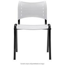 Cadeira Fixa Plástico Igreja Escola Iso Resistente Branco