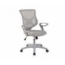 Cadeira Secretária Giratória Com Encosto Em Tela