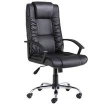 Cadeira P/ Escritório Giratória Em Couro Diplomata C/ Braço