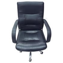 Cadeira Escritório Executiva Presidente P.u Pé Cromado