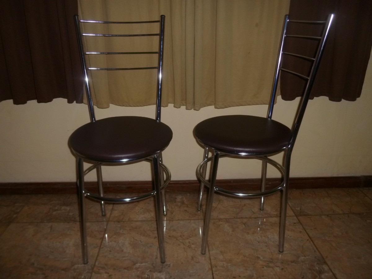 Cadeiras Bar Cozinha Bancadas Com Encosto Aço Cromado R$ 99 00 no  #2F2014 1200x900