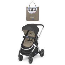 Carrinho Bebe Urban Chicco Black + Color Pack Beige