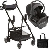 Bebê Conforto Maxi Cosi Mico 30 Preto C/ Carrinho E Bolsa