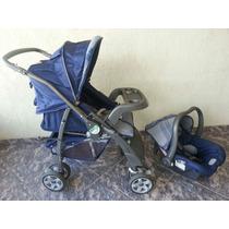 Carrinho De Bebê Burigotto At2-travel S.azul Bem Conservado