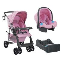 Carrinho De Bebê At6 E Bebê Conforto Com Base - Ibiza B