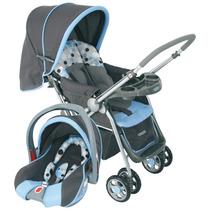 Carrinho Reverse Azul C/ Bebê Conforto Cosco