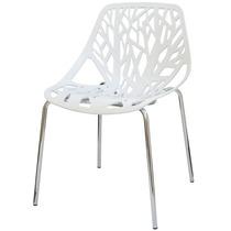 Cadeira Kiruna Ramos Branca, Flower Polipropileno Cozinha