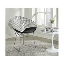 Poltrona Diamante Cromada Design Bertoia Decorativa Sala