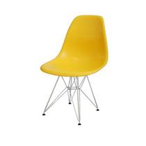 Cadeira Infantil Dkr Charles Eamens Amarela Base Cromada