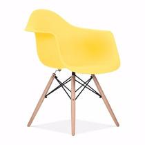 Cadeira Charles Eames Eiffel Com Braços - Amarela , Colorida
