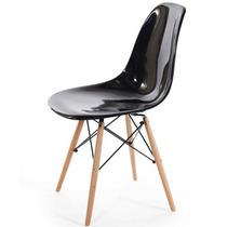 Cadeira Charles Eames Wood Dkr Acrílico E Madeira - Preta