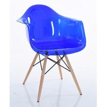 Cadeira Eames Eiffel - Policarbonato Azul Transparente