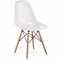 Cadeira Charles Eames Eiffel Em Policarbonato Branca Brilho