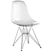 Cadeira Acrílica Charles Eames Base Torre Eiffel