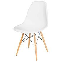 Cadeira Decorativa Americana Moderna Plástico Amarela