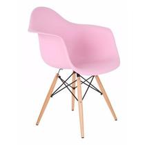 Cadeira Charles Eames Eiffel Com Braços - Rosa Ou Colorida