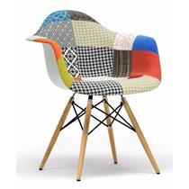 Cadeira Charles Eames Eiffel Com Braços Patchwork