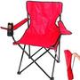 Cadeira Dobravel Braco Porta Copo Camping Pescaria Com Bolsa