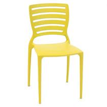 Cadeira Sofia Amarelo Encosto Detalhado Vazado - Tramontina