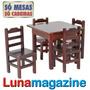 Mesa + 4 Cadeiras Infantil Criança 100% Madeira Lei Durável!