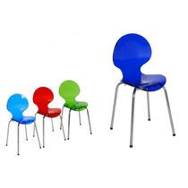 Cadeira Acrílica Cindy Infantil Base Em Aço Inox