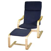 Poltrona Cadeira Relax Decorativa Design Escandinavo - Azul