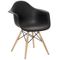 Cadeira Charles Eames Eiffel Com Braços Pé Madeira - Design