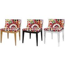 Cadeira Policarbonato Ou Madeira Mademosele Estampa Floral