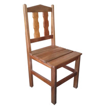 Cadeira Paulistinha Em Madeira Maciça De Demolição