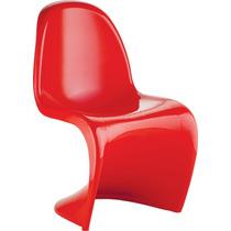 Cadeira Panton Vermelha Em Abs Injetado Design Moderno