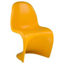 Cadeira Panton Amarela Em Abs Injetado Design Moderno