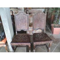Antigas Cadeiras De Couro