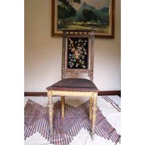 Maravilhosa Cadeira Império Em Madeira De Lei