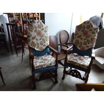 Par De Cadeiras Inglesas Do Séc. 19