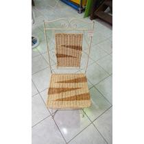 Cadeiras Em Ferro E Palha Lindas