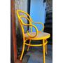 Cadeira Thonet Gerdau Amarela Repaginada - Cadeira Laqueada