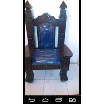 Cadeira Poltrona Em Madeira Maçaranduba Cm 1,50 Por 100