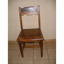 Lindas Cadeiras Em Imbuia Muito Confortáveis E Resistentes