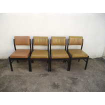 Antigo Conjunto De Cadeiras Dos Anos 60 (cod.1326)