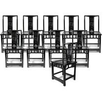 Conjunto De 10 Cadeiras Estilo Chinês - Anos 60