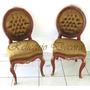 Conjunto De 10 Cadeiras Maciça Francesa Tecido Nobre
