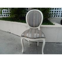 Cadeira Antiga Medalhão Estofada