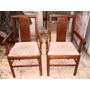 Par Cadeira C/ Braço Artdeco Em Imbuia Anos 30 Maciça