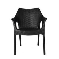 Cadeira Poltrona Plástica Preta