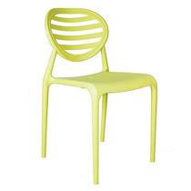 Cadeira De Polipropileno Stripe Amarela